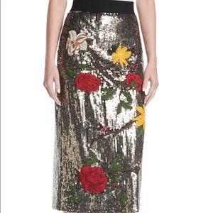 d61e4a52c60d NWOT-Alice + Olivia Alla Sequins Floral Skirt 🙌🏼